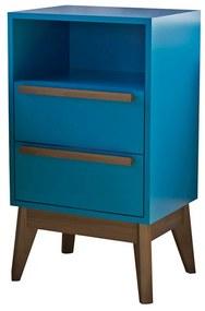 Mesa de Cabeceira Lotus Azul - Wood Prime MP 14662