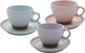 Jogo Xícaras Chá Cerâmica 6 Peças Romance 200ml 35384 Bon Gourmet