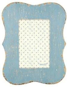 Porta Retrato Mart Em Mdf Azul 10X15
