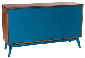Buffet Safira 3 Portas Azul - Wood Prime MP 1041589