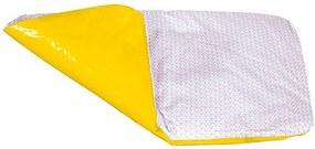 Colchão Trocador Dupla Face Grande para Colchonete Triângulos Rosa e Amarelo