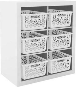 Armário Organizador OG2201 Branco/Branco - Tecno Mobili