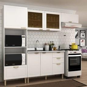 Cozinha Completa 4 peças Americana Multimóveis 5671 Branco