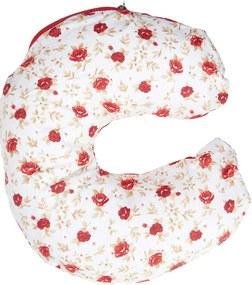 Almofada de Pescoço - Alan Pierre Baby - Flor Vermelha Nova