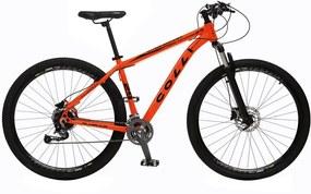 Bicicleta Esportiva Aro 29 Alívio Shimano Suspensão Freio a Disco 531-A Quadro 18 Alumínio Laranja Neon - Colli Bike