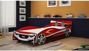 Cama Carro Speed 090 Vermelha Gelius Móveis
