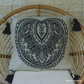 Capa de Almofada Balinesa Boho   Algodão
