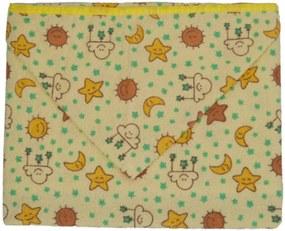 Toalha Fralda Caricia Baby Amarelo Sortido