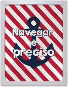 Pôster Decorativo Prolab Gift Navegar Moldura Branca