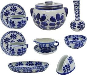 Jogo de Sopeira em Porcelana Azul Colonial 11 peças