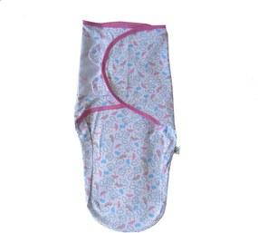 SwaddleMe - Cueiro Ajustável em Malha 100% Algodão - Umbrella Multicolorido