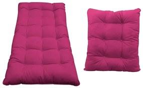Kit Almofadas para Poltrona e Puff Costela Suede Pink - ADJ Decor