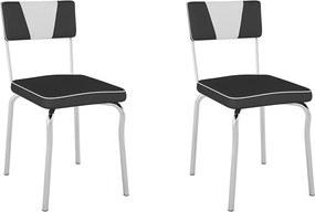 Cadeiras Kit 2 Cadeiras Retrô Pc13 Assento/Encosto Vinil Preto Encosto Brn - Pozza