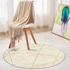 Tapete Redondo Wevans Listra com Marble 94cm