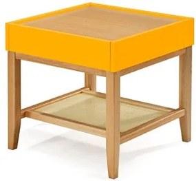 Mesa Lateral Quadrada 1 Gaveta Dun Amarelo