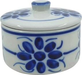 Mantegueira Redonda em Porcelana Azul Floral
