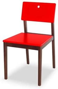 Cadeira Elgin em Madeira Maciça - Vermelho