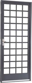 Porta de Aço de Abrir Belfort Quadriculada 1 Folha Abertura Direita 217x87x6,5 - Sasazaki - Sasazaki