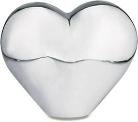 Coração Prata em Cerâmica 11,5cm - Mart