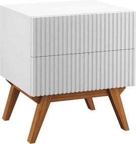 Mesa de Cabeceira Tulum 2 Gavetas Branco - Wood Prime PA 44019