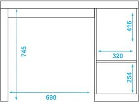 Penteadeira 1 Porta 1 Gaveta Bpe 35-06 B