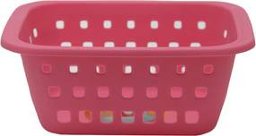 Cesto Caixa Organizadora 1450ml Plástico Rosa Ordene