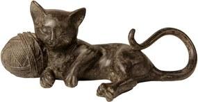 Escultura Decorativa de Resina Gato Milk