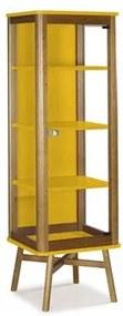 Cristaleira Aldry 1 Porta em Madeira Amarelo