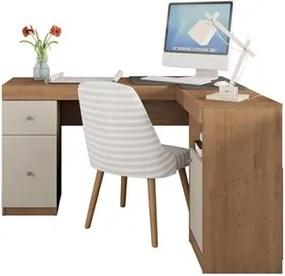 Mesa para Computador Escrivaninha Work Buriti/Off White - Caemmun