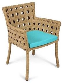 Cadeira Roseta Área Externa Fibra Sintética Estrutura Alumínio Eco Friendly Design Scaburi