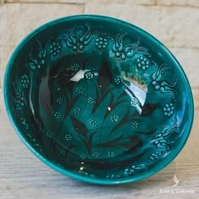 Tigela Turca Turquesa em Cerâmica