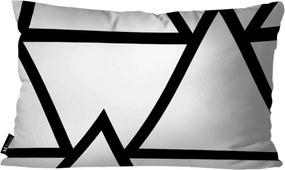 Almofada Mdecor Abstrato 30x50cm Branco