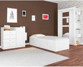 Jogo Quarto Solteiro com Cama Tóquio CJ012 Branco - Art in Móveis