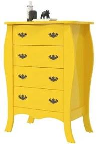 Cômoda Vitória 04 Gavetas Amarelo - Patrimar Móveis