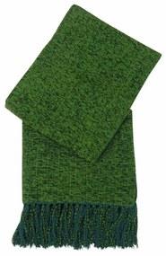 Xale de Sofá Artesanal Tear em Chenile 1,80x1,20 Verde Escuro