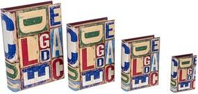 Conjunto com 4 Caixas Livro ABC Design