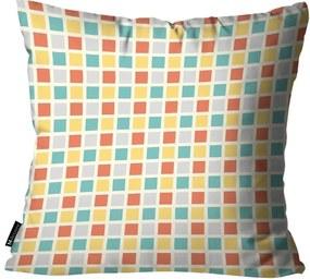 Capa para Almofada Infantil Quadrados Colorida35x35cm