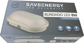 Arandela Blindada Led 8W 5700K - Save Energy - Bivolt.