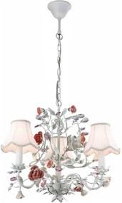 lustre provençal LUCY 43cm flores 3Xvela Mantra 2800