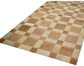 Tapete Quadras 1,05x1,50 Tons Champanhe - RE 45226