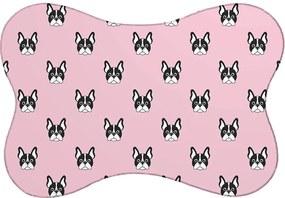 Tapete PET Mdecore Bulldog Rosa46x33cm