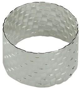 Jogo Anéis Para Guardanapos 4 Peças Metal Trançado Prateado 5x3cm 60723 Royal