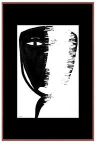 Quadro Decorativo Figurativo Contraste Meia Face Preto e Branco - CZ 44083