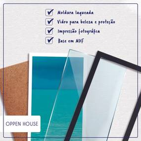 Quadro Oppen House  Signos Capricórnio Zodíaco Horóscopo Branca e Vidro Decorativo