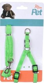 Peitoral Regulável com Guia Para Passeio Verde - Meu Pet
