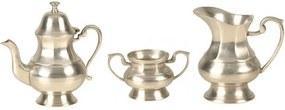 Conjunto Chá de Metal Indiano com 3 peças