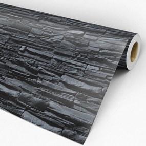 Papel de parede adesivo pedra canjiquinha preta