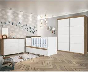 Quarto Infantil Premium Amêndoa/Branco - Planet Baby