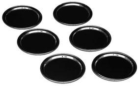 Jogo de 6 Porta Copos Lecco - Níquel Black  Níquel Black