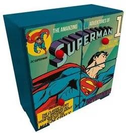 Gaveteiro de Mesa Super Homem Azul Quadrinhos HQ DC Comics Gaveteiro de Mesa Super Homem Madeira Azul Quadrinhos HQ DC Comics